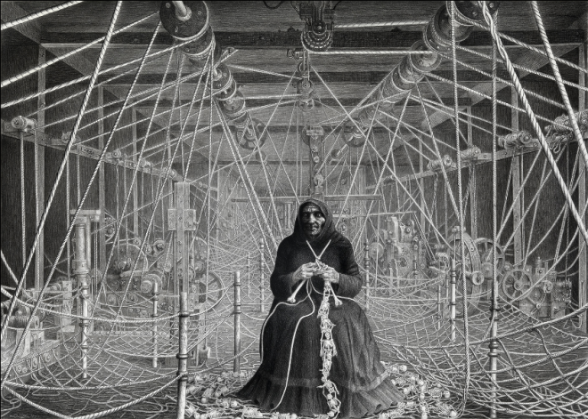 The Knitter of Bones / Laurie Lipton / 2011